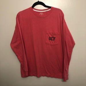 UCF knights long sleeve pocket t shirt pink small